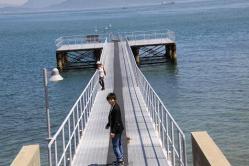 ベネッセハウスのVIPアプローチ用桟橋