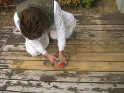 塗装の削り取り