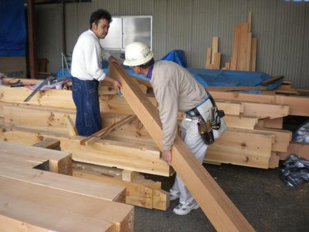 木材の刻み加工