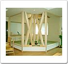 構造上重要な柱をそのままデザインとして